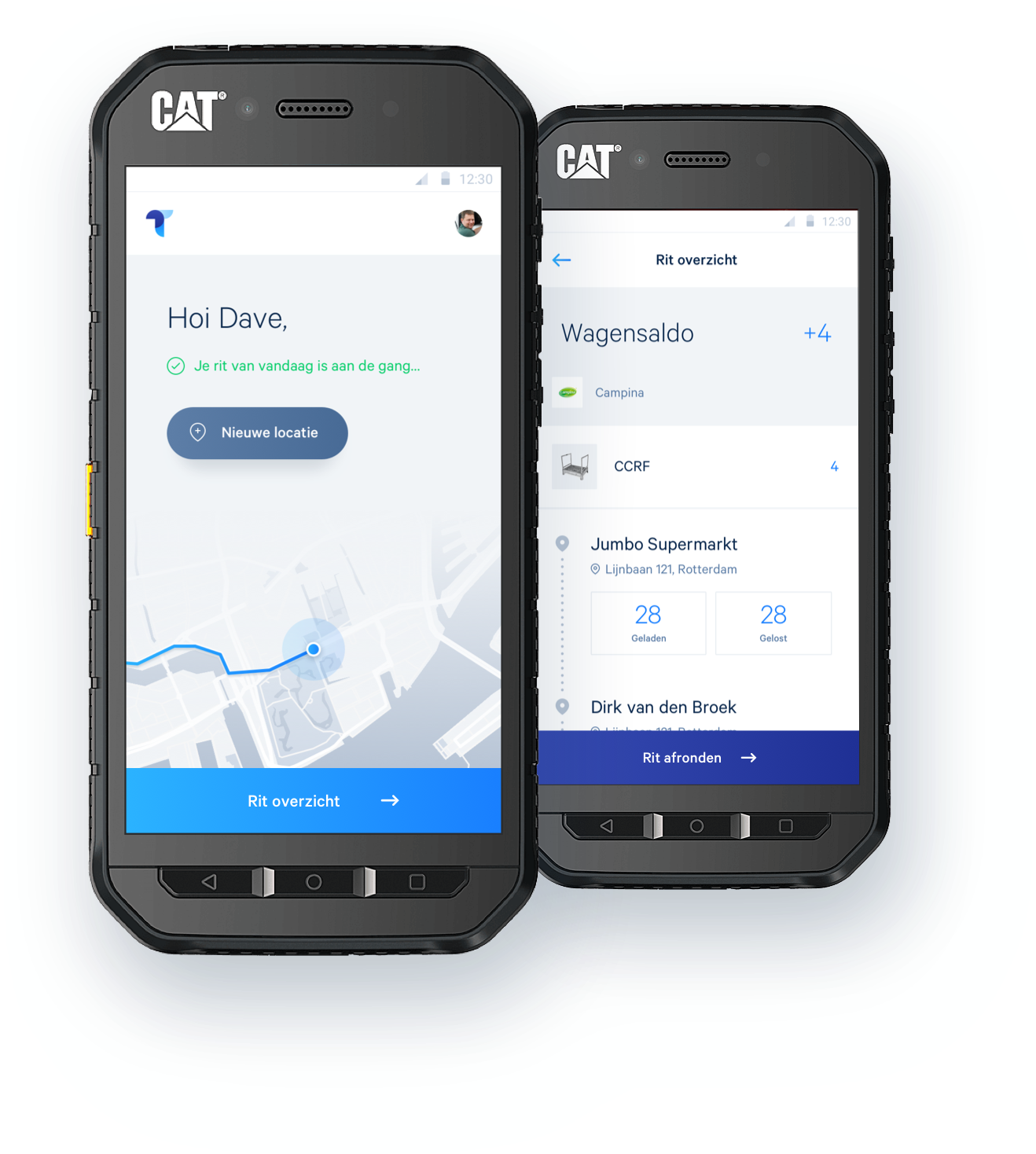 Android Telefoon met TellApe app